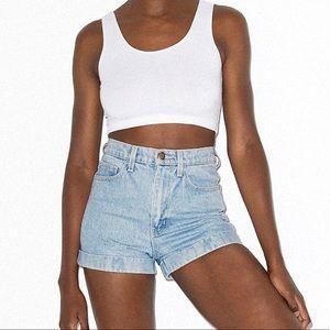 NWT American Apparel High Waist Denim Shorts